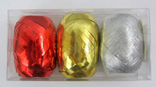 Ribbon 3 Colours assorted for Wrapping Presents at Birthdays or Xmas